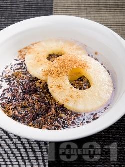 Бубух инджин - пудинг от черен ориз с кокосово мляко и ананас от консерва - снимка на рецептата